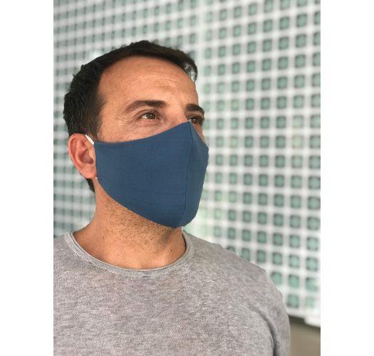 Washable navy blue barrier mask - FACE MASK BBS04