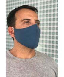Многоразовая защитная маска тёмно-синего цвета - FACE MASK BBS04