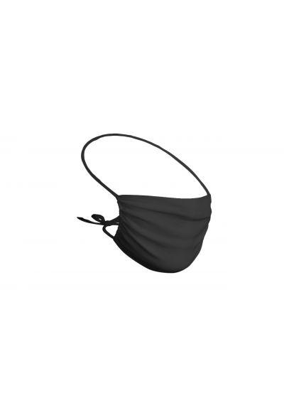 Set of 5 black reusable barrier masks - 5 x FACE MASK BBS02 2 LAYERS