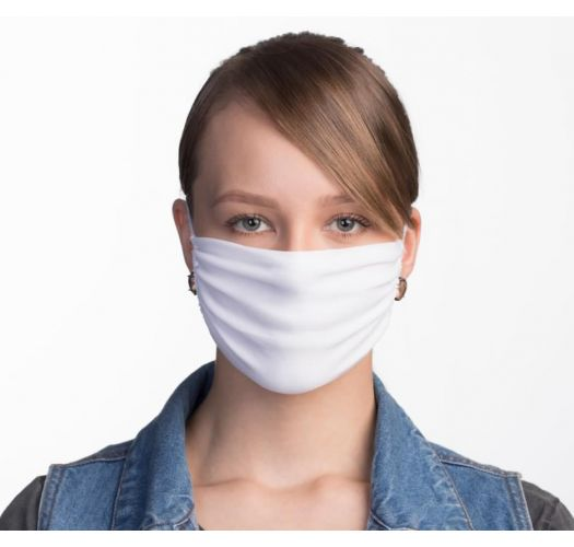 White reusable barrier mask 3 layers - FACE MASK BBS12