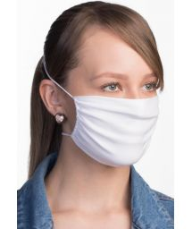 Adjustable and reusable white fabric face mask - FACE MASK BBS01