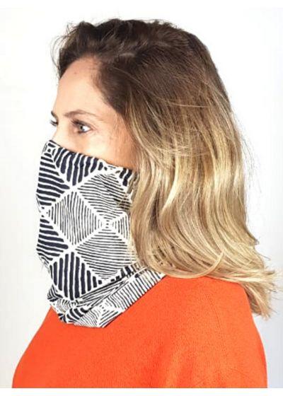Geometric scarf barrier mask UPF50+ - FACE MASK BBS37 UPF50+