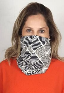 Geometric scarf barrier mask UPF50+ - FACE MASK BBS37 UPF50+