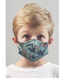 Masque anti-projection enfant motif dinosaures - FACE MASK BBS39 UPF50+