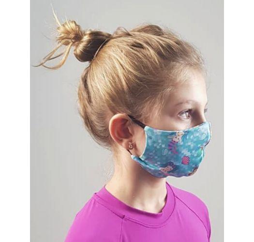 Kid's barrier mask UPF50+ - mermaid - FACE MASK BBS40 UPF50+