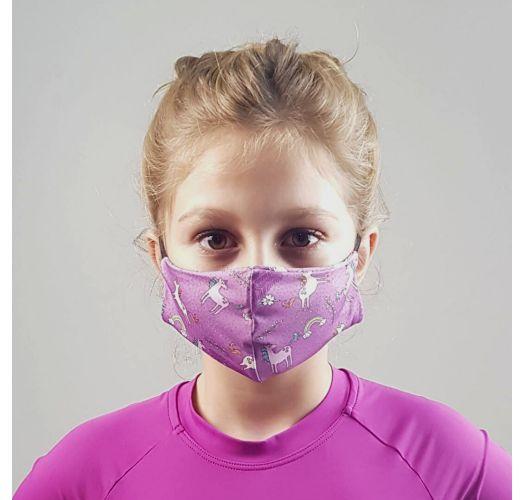 Kid's barrier mask UPF50+ - unicorn - FACE MASK BBS41 UPF50+