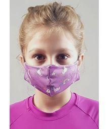 Masque anti-projection enfant motif licornes - FACE MASK BBS41 UPF50+