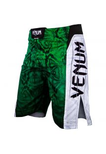 Green snake print MMA fight shorts - AMAZONIA 5 GREEN