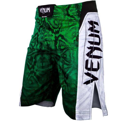 MMA-shortsit vihreällä käärmeennahkakuviolla - AMAZONIA 5 GREEN
