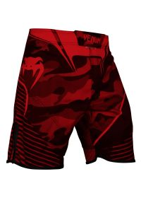 Red camouflage print combat shorts - CAMO HERO RED/BLACK