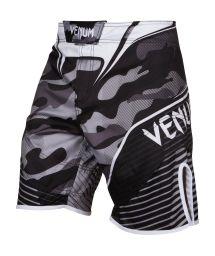 Gray/black camouflage print MMA shorts - CAMO HERO WHITE/BLACK
