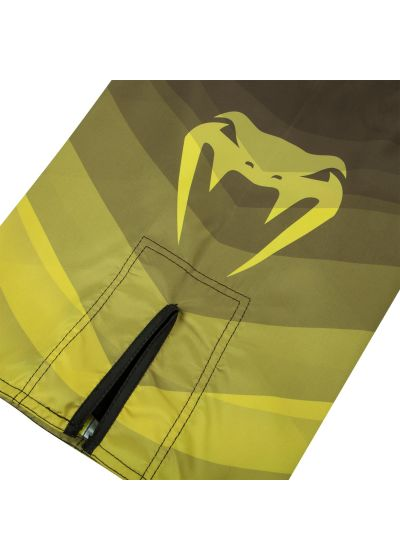 Venum logo fight shorts in varying shades of yellow - DREAM FIGHTSHORT