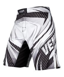White printed combat shorts with Venum logo - GALACTIC 2.0 CARBON