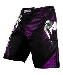 Black/purple Flex-System fabric fight shorts - RAPID FIGHTSHORT BLACK/PURPLE