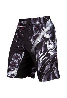 Pantaloncini da combattimento neri teschio - SAMURAI SKULL FIGHTSHORT