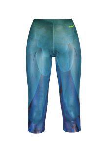 Blauwe fitnessleggings met een satijnachtige afwerking ASA AZUL CIRRE
