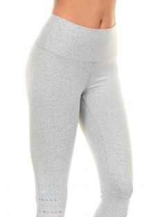 Clear grey fitness leggings with multi-coloured geometric patterns BARRA SILK