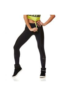 Fitness-Legging, atmungsaktiv und Spitze - LEGGING SUPPLEX GEOMETRIC