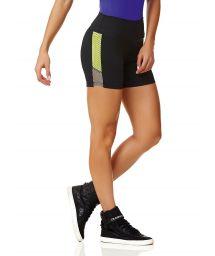 Bi-material, svarta sport shorts - SHORT NEW ZEALAND