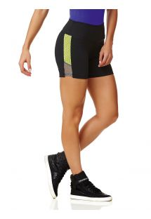 Sport-Short, schwarz, zwei Materialien - SHORT NEW ZEALAND