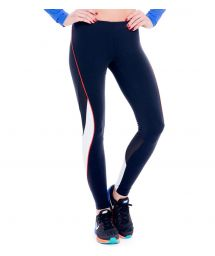 Dual fabric black and white sports leggings - FUSEAU ANAHUACALLI