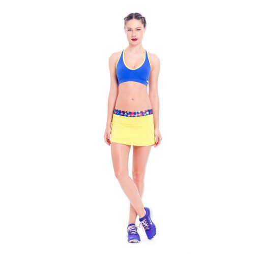 Blue and yellow racerback sports bra - TOP ORTEGA