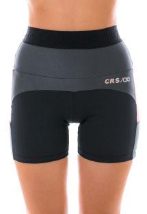 Tricolor women&#39s high waist cycling shorts - BERMUDA ATLANTA
