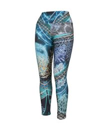Women&#39s printed fitness leggings - BOTTOM ATLANTA ESTA