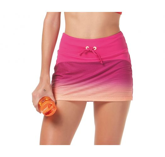 Fitness minirok met aflopende kleuren - BOTTOM BE FIT