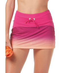 Bi-fabric fitness mini skirt with graduated print - BOTTOM BE FIT