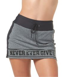 Gray and black printed sport mini-skirt - BOTTOM BELIVE