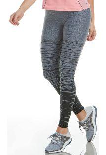 Leggings de fitness p/a senhora, cinzentas e pretas - BOTTOM MATRIX