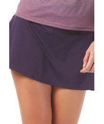Short purple fitness skirt - BOTTOM RECORTE DIAGONAL