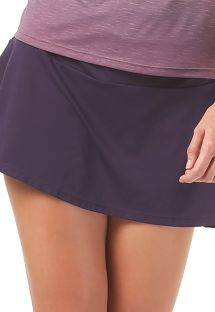 Jupe courte violette de fitness - BOTTOM RECORTE DIAGONAL