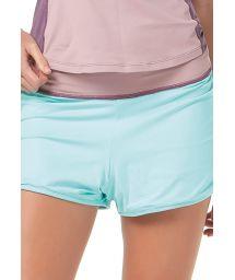 Mauve/blue reversible fitness shorts - BOTTOM RUNNING