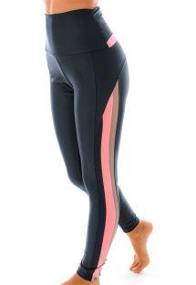 Legging fitness taille haute marine/corail - LEGGING ATLANTA