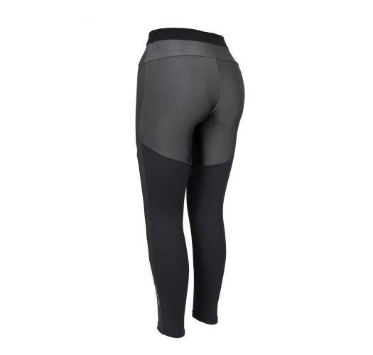 Grey & black fitness leggings - LEGGING ATLANTA BICOLOR