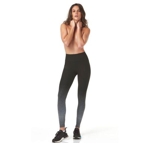 Zwart gegradeerde leggings met witte stippen - LEGGING BARRADO