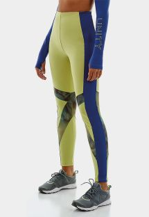 LEGGING UP CO2 RECORTES E TELA ESTAMPADA AZUL LIME