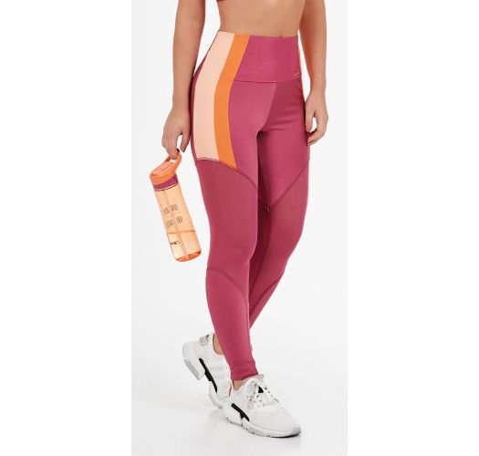 LEGGING CANELADO POWER RECORTES ROSA