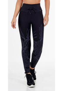 LEGGING MATRIX BARRADO FOLIAGE PRETO