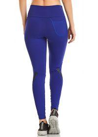 Dark blue long fitness leggings - BOTTOM BLAZE