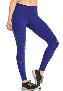 Fitness-Leggings, dunkelblau, mit Tasche auf der Rückseite - BOTTOM BLAZE