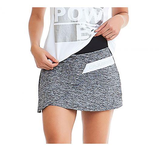Grey fitness skirt - BOTTOM POWER
