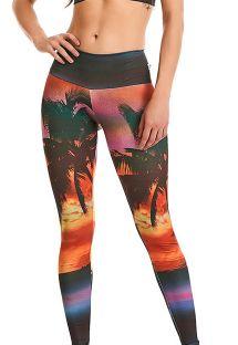Fitness-Leggings, mit tropischem Aufdruck - BOTTOM PRINT ESTAMPADO