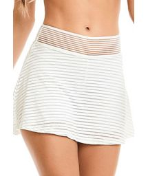 White fitness skirt with stripes and transparencies - BOTTOM ROCK SHINE