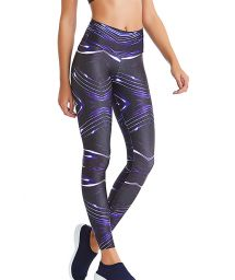 Fitness leggings with dynamic print - BOTTOM SHINE NOW