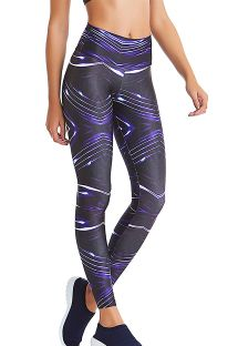 Leggings sportivo con stampa dinamica - BOTTOM SHINE NOW