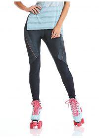 Dark grey fitness leggings - BOTTOM STAY ACTIVE