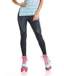 Legging fitness multi matières gris foncé - BOTTOM STAY ACTIVE
